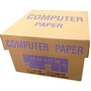 CONTINUOUS PAPER 1 PLY PLAIN 11   X 11   - BOX OF 2,000 SHEETS