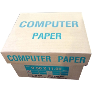 CONTINUOUS PAPER 1 PLY PLAIN 9.5 X 11   - BOX OF 2,000 SHEETS