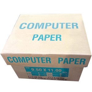 CONTINUOUS PAPER 3 PLY PLAIN 9.5   X 11   - BOX OF 500 SHEETS