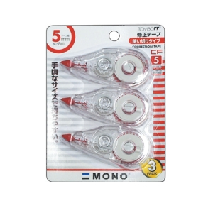 TOMBOW CT-CF5 CORRECTION TAPE 5MM X 8M - PACK OF 3