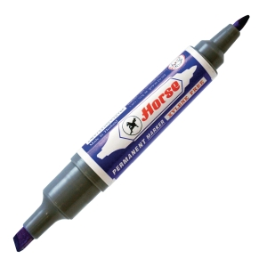 HORSE PERMANENT MARKER BULLET AND CHISEL TIP BLUE