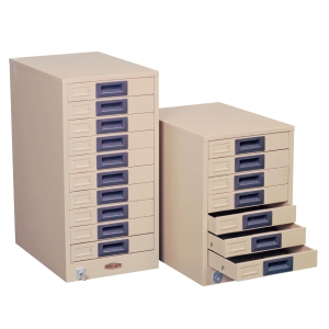 LUCKY FA410 STEEL FILING CABINET 10 DRAWERS CREAM