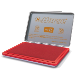 HORSE STAMP PAD NO.2 7CM X 11CM  RED