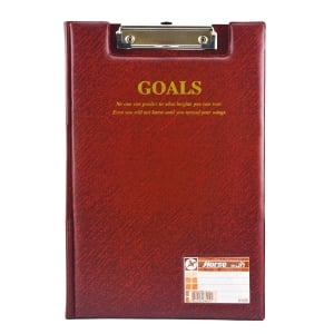HORSE H-035 PLASTIC COVERED CLIPBOARD FOLDER RED
