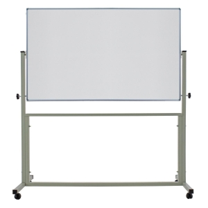 APEX 2 SIDED WHEEL WHITEBOARD 80 X 120CM