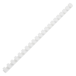 IBICO PLASTIC COMBS 10 MM 55 SHEETS WHITE - PACK OF 10