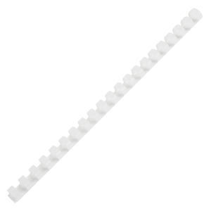 IBICO PLASTIC COMBS 16MM 130 SHEETS WHITE - PACK OF 10