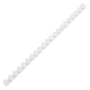 IBICO PLASTIC COMBS 22MM 170 SHEETS WHITE - PACK OF 10
