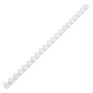 IBICO PLASTIC COMBS 25MM 200 SHEETS WHITE - PACK OF 10