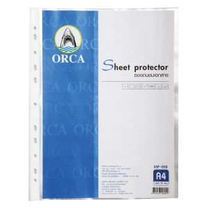 ORCA PUNCHED POCKET A4 11 HOLE 50 MI CLEAR - PACK OF 20
