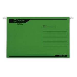 ตราช้าง แฟ้มแขวน 905F240x364 มิลลิเมตร สีเขียว แพ็ค 10เล่ม