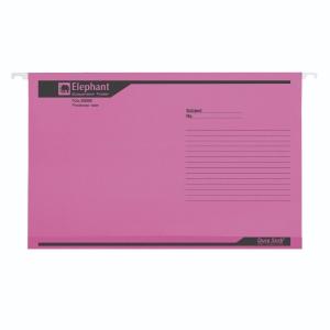 ตราช้าง แฟ้มแขวน 926F240x364 มิลลิเมตร สีชมพู แพ็ค 10เล่ม