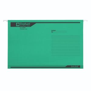 ตราช้าง แฟ้มแขวน 926F 240x364 มิลลิเมตรสีเขียว แพ็ค 10 เล่ม