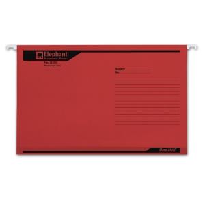 ตราช้าง แฟ้มแขวน 925F 240x364 มิลลิเมตรสีแดง แพ็ค 10เล่ม