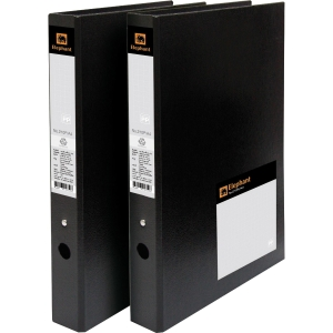 ELEPHANT 210P 2-O-RING BINDER FOLDER A4 1.2   BLACK