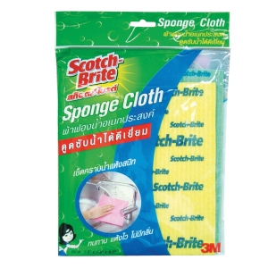 SCOTCH-BRITE MULTIPURPOSE SPONGE CLOTH 18X20CM - PACK OF 2