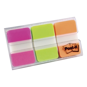 POST-IT 686-PGO DURABLE TAB 1 X 1.5   - 3 COLOURS