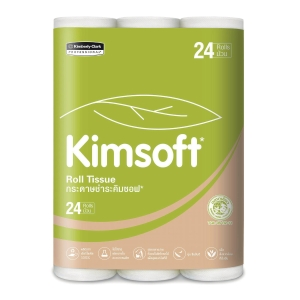 KIMSOFT TOILET PAPER ROLLS 17.6 METRES - PACK OF 24