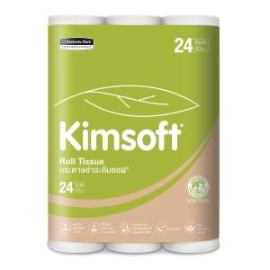 KIMSOFT กระดาษชำระม้วน 17.6 เมตร แพ็ค 24 ม้วน