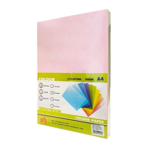 SB กระดาษสี#501A480 แกรม5สี1 แพ็ค บรรจุ 250แผ่น
