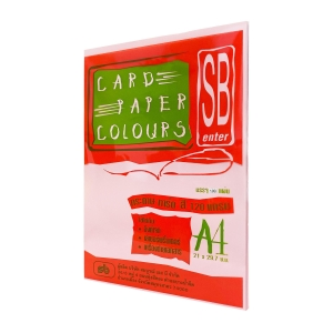 SB COLOURS CARDBOARD A4 120G - PINK - PACK OF 100 SHEETS
