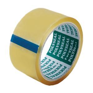POLYSEAL เทปปิดกล่อง OPP กาวยางธรรมชาติ ขนาด 2 นิ้ว X 45 หลา แกน 3 นิ้ว สีใส