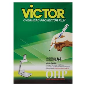 VICTOR OHP WRITE ON TRANSPARENCY FILM 100 MICRON A4 BOX OF 100