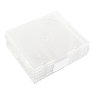 CD SLIM BOX 1 SIDE, HOLDS 1 CD CLEAR PACK OF 10
