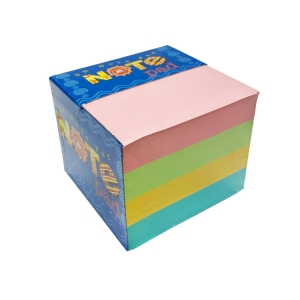SB CUBE PAPER NOTES 9CM X 9CM - 4 ASSORTED COLOURS 1000 SHEETS