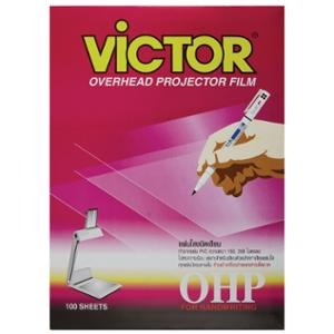VICTOR OHP WRITE ON TRANSPARENCY FILM 150 MICRON A4 BOX OF 100