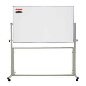 APEX 2 SIDED MAGNETIC WHEEL WHITEBOARD 120 X 180CM