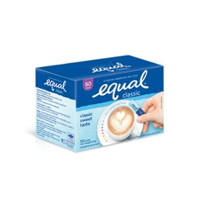EQUAL SWEETENER PACK OF 50 SACHETS