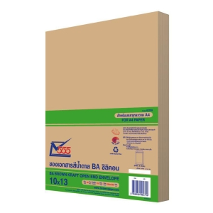 555 OPEN-END ENVELOPE BA KARFT SIZE 10  X 13  110GRAM BROWN - PACK OF 50