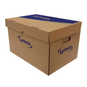 LYRECO PAPER STORAGE BOX 46X32X28CM - PACK OF 2