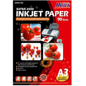HI-JET EXTRA 2000 INKJET PAPER A3 90G - PACK OF 100