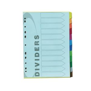 อินเด็กซ์กระดาษ 12 หยัก 12 สี 100 แกรม A4