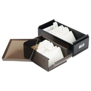 POWER STONE PS400 BUSINESS CARD BOX FOR 400 CARDS BLACK