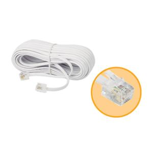 TELEPHONE EXTENSION CABLE 10 METERES WHITE