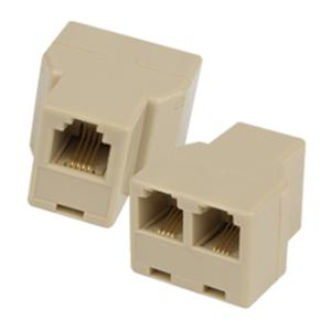 A203 CONNECTOR BOX IN/2 OUT LINE CREAM
