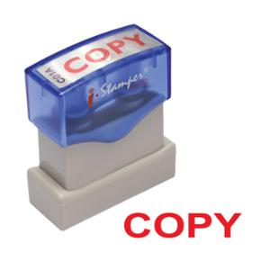 I-STAMPER C01A SELF INKING STAMP   COPY   ENGLISH LANGUAGE - RED
