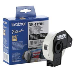 BROTHER ป้ายพิมพ์ฉลาก DK-11204 17มม. x 54มม. 400ดวง