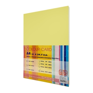 SB COLOURED CARDBOARD A4 120G - YELLOW - PACK OF 250 SHEETS