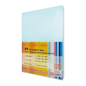 SB COLOURED CARDBOARD A4 180G - BLUE - PACK OF 200 SHEETS