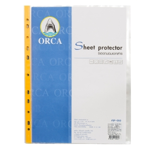 ORCA PUNCHED POCKET A4 11 HOLE 50 MI YELLOW - PACK OF 20