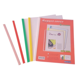 BINDERMAX W-4E SLIDE LOCK FOLDER ASSORTED COLOURS - PACK OF 5