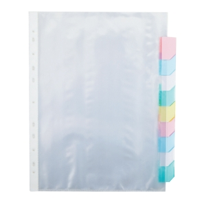 BINDERMAX PDT-010 PUNCHED POCKET DIVIDERS A4 - PACK OF 10
