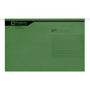 ตราช้าง แฟ้มแขวน 900 F 240x364 มิลลิเมตร สีเขียว แพ็ค 10 เล่ม