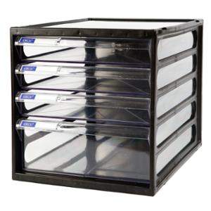 ORCA CFB-4 PLASTIC CABINET 4 DRAWERS WHITE/CLEAR