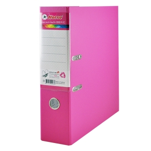 HORSE H-1002 LEVER ARCH FILE CARDBOARD F 3   PINK
