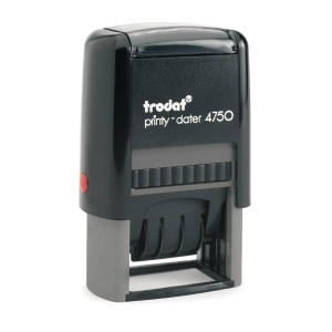 TRODAT TR4750/L1E SELF INKING STAMP  RECEIVED  ENGLISH LANGUAGE 41MMX24MM